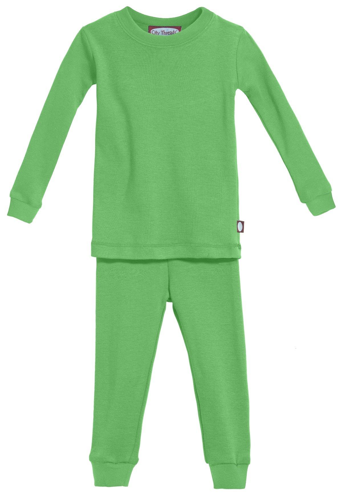 City Threads Boys' and Girls' Pajama Set PJs, Organic Cotton, Made in USA