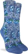 Good Luck Sock Women's Koalas Crew Socks - Blue, Adult Shoe Size 5-9