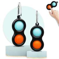 Simple Dimple Fidget Toys, Decompression Toys That Easy to Carry, Stress Relief Handheld Toys for Kids and Adults, Fidget Simple Dimple Toys for Office & Desk-2 PCS