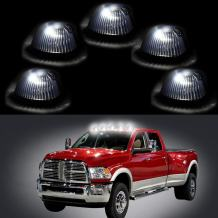 cciyu Replacement fit for 94-98 Dodge Ram 2500 3500 Black Smoked Cab Roof Top Marker Running Lamps w/Warm White LED Light Bulbs(5 Pcs)