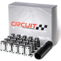 Circuit Performance Spline Drive Tuner Acorn Lug Nuts Chrome 12x1.25 Forged Steel (20pc + Tool)