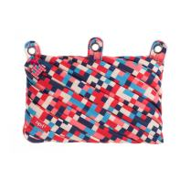 ZIPIT Pixel 3-Ring Pencil Case, Blue and Red