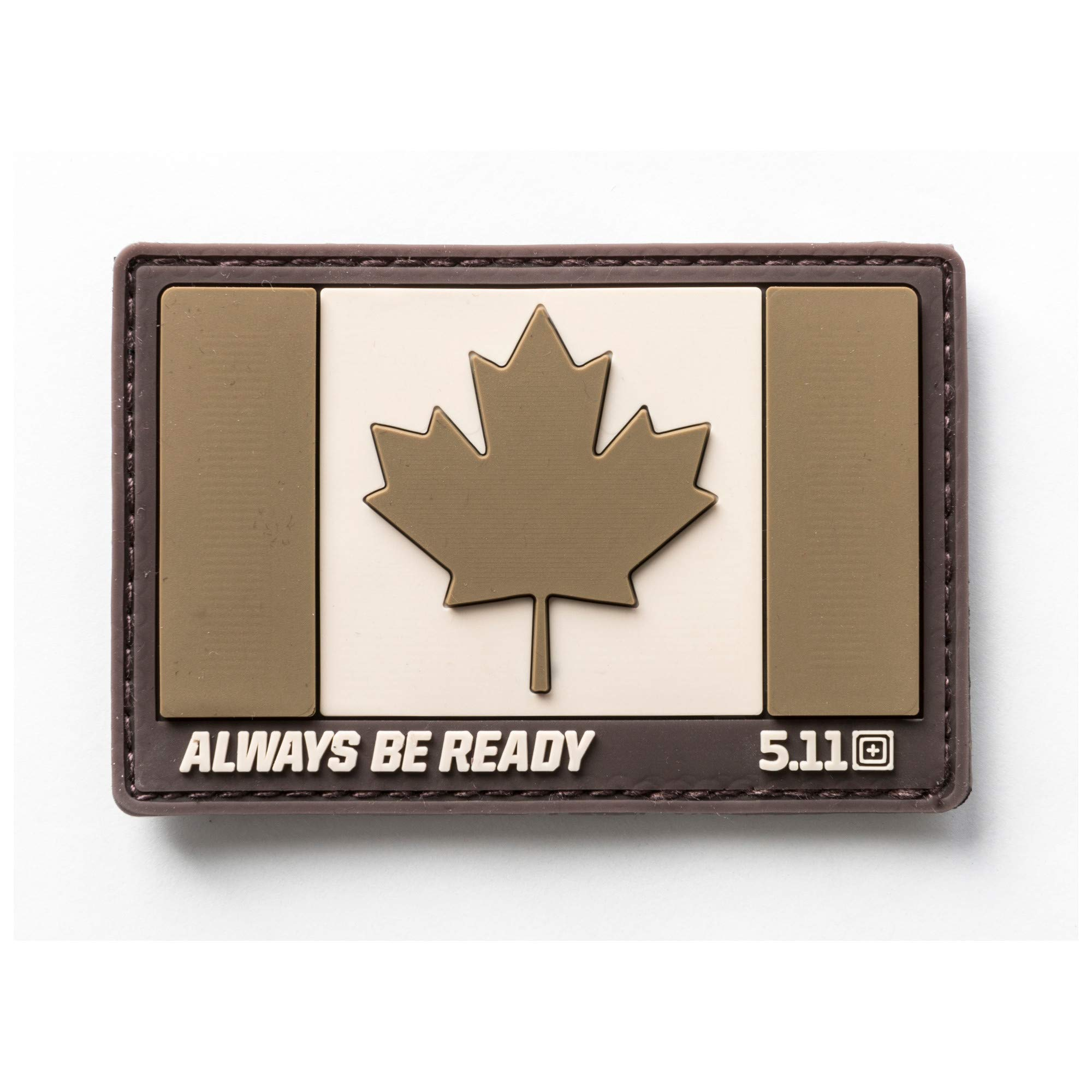 5.11 Tactical Canada Flag Patch, Hook Backing, Laser-Cut Size, Easy Attachment, Style 81209