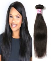 Beauty Forever Brazilian Straight Hair 1 Bundle 95-100g Hair Weave 100% Unprocessed Human Virgin Hair Extensions Natural Color Can Be Dyed And Bleached (10)