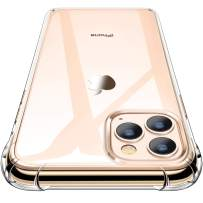 iPhone 11 Pro Max Case, CANSHN Clear Protective Heavy Duty Case with Soft TPU Bumper [Slim Thin] Case for iPhone 11 Pro Max 6.5 Inch (2019)-Crystal Clear