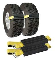 TRACGRABBER Trac-Grabber – Snow, Mud and Sand Tire Traction Device, Set of 2 – for Trucks and Large SUVs, Easy to Install – A Snow Traction Mat Alternative – Get Unstuck