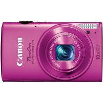 Canon PowerShot ELPH 330 12MP Digital Camera with 10x Optical Image Stabilized Zoom with 3-Inch LCD (Pink) (OLD MODEL)