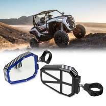 """RZR 1000 900 Side Mirrors, kemimoto UTV Mirrors Side View Heavy Duty Aluminium Alloy 1.75"""" Roll Bar Clamp Break Away with Ball Joint High Impact Shatter Proof Tempered Glass Blue"""