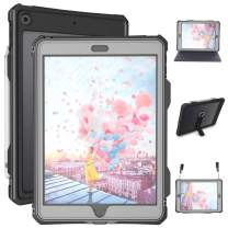 iPad 10.2 Case - Waterproof iPad 7th 8th Generation Case 2019 2020 Full Body Protection Bumper Case for iPad 7 gen 8 gen 10.2 inches Shockproof Anti-Scratch with Strap Stand Pencil Holder