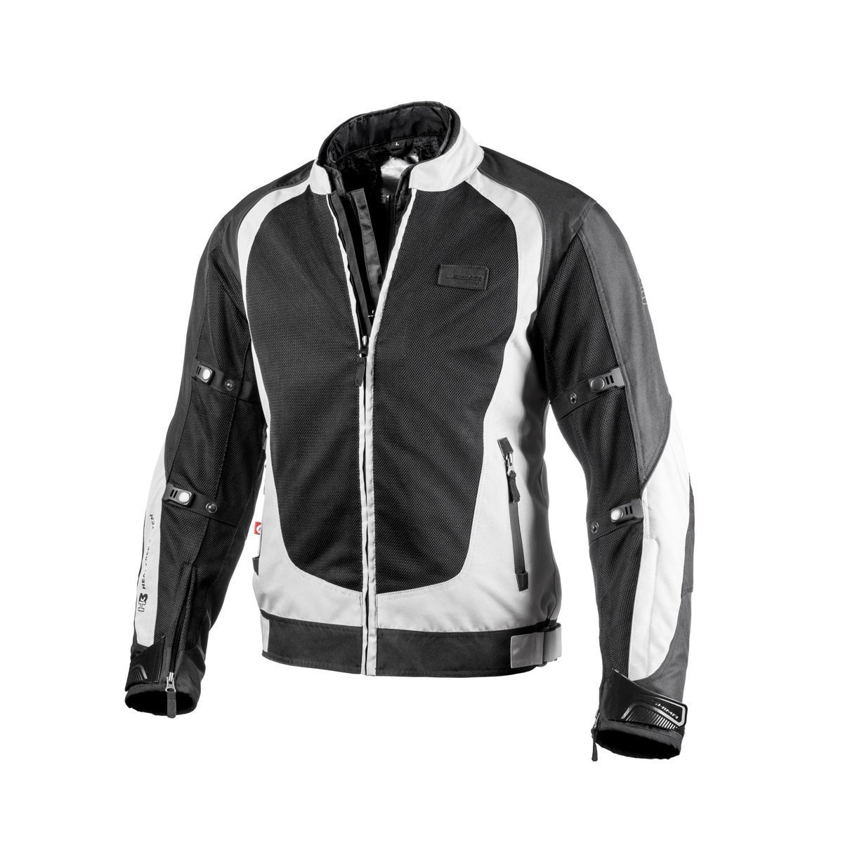 Shima X-MESH GREY, Sport Protective Summer Comfort Stylish Reflective Motorbike Jacket (S-XXL), Grey, Size:M