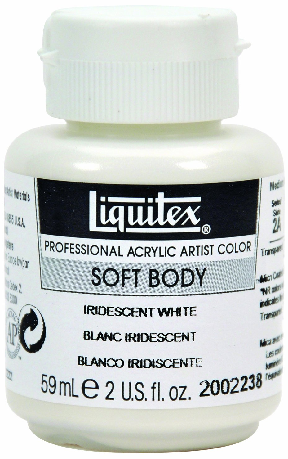 Liquitex Professional Soft Body Acrylic Paint 2-oz jar, Iridescent White