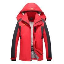 Spmor Men's Ski Jacket Waterproof Windproof Mountain Winter Coat Rain Hooded Coat