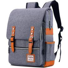 Vintage Laptop Backpack School College Backpack Bookbag Travel Backpack for Women and Men Fits 15.6 Inch Laptop Large Capacity MUBYTREE