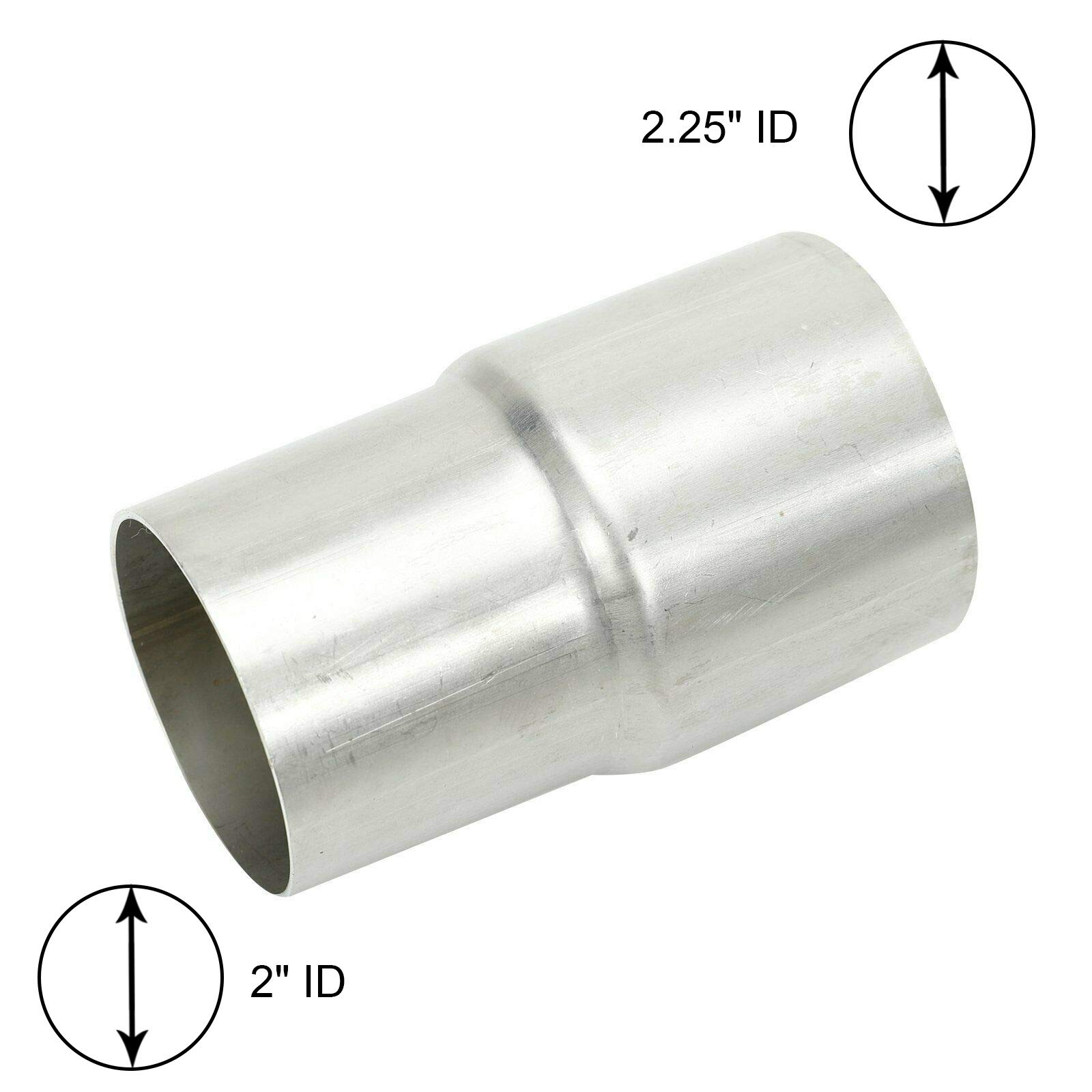 """BETTERCLOUD 2"""" ID to 2.25"""" ID Exhaust Pipe to Pipe Adapter Reducer"""