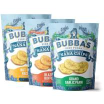 Bubba's Fine Foods Grain Free Nana Chips | Savory Plantain Chip Variety Pack, 2.7 Ounce Bags (Pack of 6)