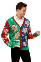 Unisex Men's Ugly Christmas Sweater Cute Reindeer Knitted Classic Funny Santa Fair Isle Novelty Pullover for Men