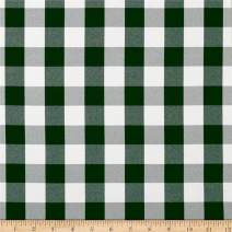 Ben Textiles Picnic Gingham Yarn-Dyed Hunter Green/White Fabric by the Yard