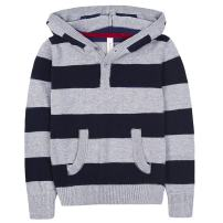 Benito & Benita Boys Hooded Pullover Sweater Striped Casual Kids Sweatshirt Tops