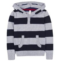 Benito & Benita Boys' Pullover Hoodies Cotton Soft Sweater Casual Striped Sweatshirt