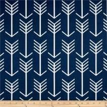 Premier Prints Arrow Twill, Yard, Navy/White