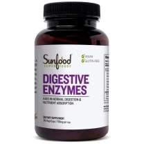 Sunfood Superfoods Digestive Enzymes- Plant Based. 90 ct
