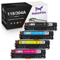 HaloFox Remanufactured Toner Cartridge Replacement for Canon 118 HP 304A for MF8580CDW MF8350CDN MF8380CDW MF726CDW LBP7660CDN LBP7200CDN CP2025DN CM2320N CM2320NF CM2320FXI MFP Printer (4 Pack)