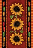 """Toland Home Garden Sunflower Trio 12.5"""" x 18"""" Decorative Fall Flower Garden Flag"""