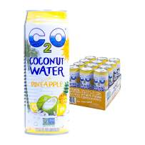 C2O Pure Coconut Water with Pineapple, 17.5 Fluid Ounce (Pack of 12)