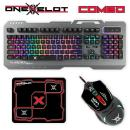 ONEXELOT Gaming Keyboard Aluminum Led Backlight USB Wired Combo Mouse Pad
