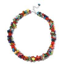 """Shop LC Delivering Joy Multi Color Shell Cubic Zirconia CZ Bead Strand Necklace Prom Fashion Jewelry for Women 20-23"""""""