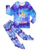 QPANCY Girls Pj Sets Kids Cotton Pajamas Long Sleeve Fall Winter Sleepwear