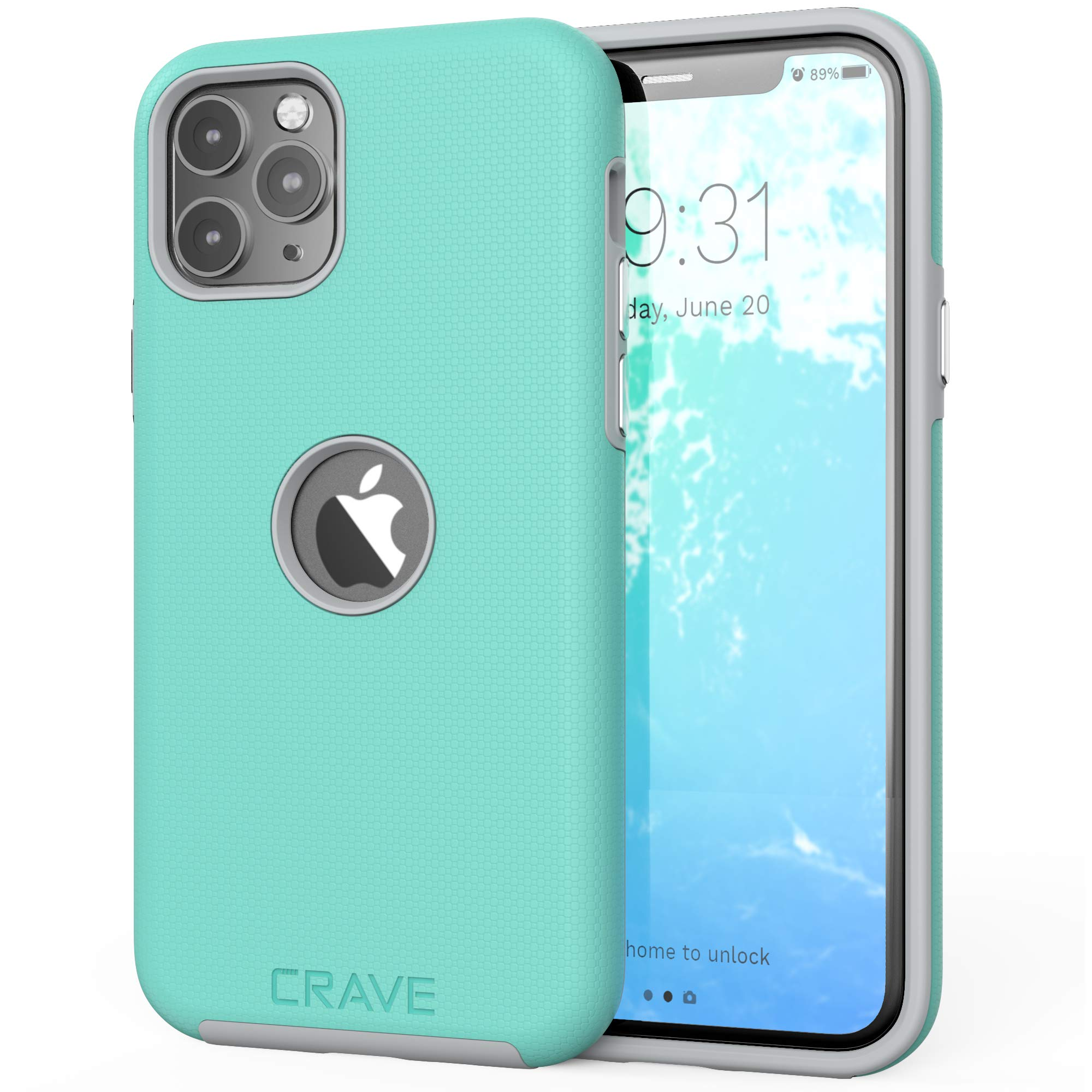 Crave iPhone 11 Pro Case, Dual Guard Protection Series Case for iPhone 11 Pro - Mint/Grey