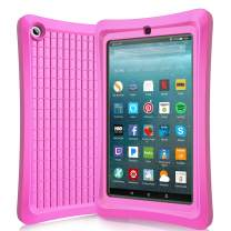 Benazcap Case for All-New 7 Inch Tablet 2019 - Lightweight Shockproof Anti Slip Soft TPU Case Protective Kids Cover for 2019 Tablet 7 Inch 9th Gen, Pink