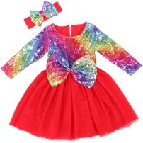 Cilucu Flower Girls Dress Toddlers Baby Sequin Party Dress Tutu Prom Pageant Dresses Wedding Gown