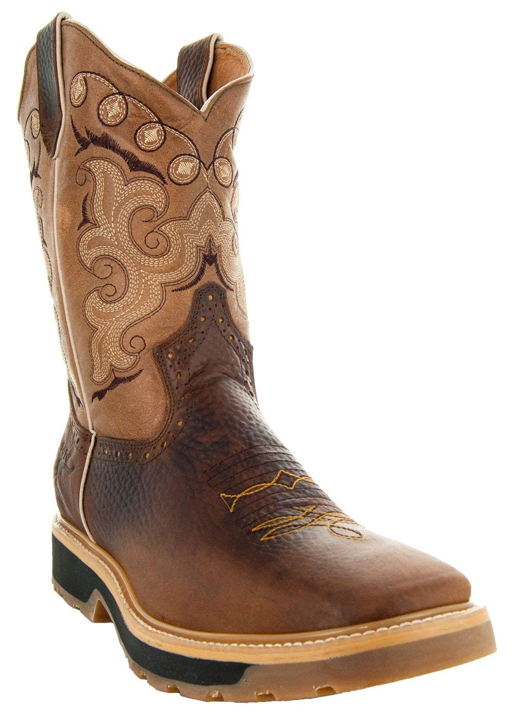 Soto Boots Men's Square Toe Work Boots H6002