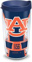 Tervis Auburn Tigers Spirit Insulated Tumbler with Wrap and Navy Blue Travel Lid, 16 oz, Clear