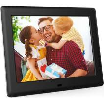 DBPOWER 8 Inch Digital Photo Frame, Electronic Picture Frame with HD IPS Display, Remote Control, Calendar, Time, Music, Video, Slideshow, Supports 32GB USB Drive/SD Card