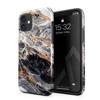 BURGA Phone Case Compatible with iPhone 11 - Black and Gold Marble Stone Cute Case for Girls Heavy Duty Shockproof Dual Layer Hard Shell + Silicone Protective Cover