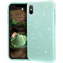 """MATEPROX iPhone Xs Max case,Bling Sparkle Cute Girls Women Protective Case for iPhone Xs max 6.5"""" (Green)"""