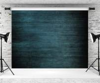 Kate10ft(W) x6.5ft(H) Wood Texture Photo Backdrop Old Blue Wooden Pattern Photography Backdrops Background Blue Wood Photo Studio Props for Photographer