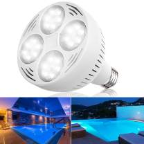 Bonbo 120V 50W LED Pool Light Bulb 6500k White Light Daylight LED Swimming Pool Light Bulb E26 Base 300-600W Traditional Bulb Replacement for Most Pentair Hayward Light Fixture