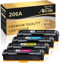 Arcon Compatible Toner Cartridge Replacement for HP 206A W2110A 206X for HP Color Laserjet Pro M255dw MFP M283fdw M283cdw M282nw Printer Toner W2111A W2112A W2113A (Black Cyan Yellow Magenta,NO CHIP)
