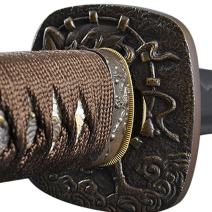 Handmade Sword - Samurai Katana Sword, Battle Ready, Hand Forged, 1045 Carbon Steel, Heat Tempered, Full Tang, Sharp, Wooden Scabbard