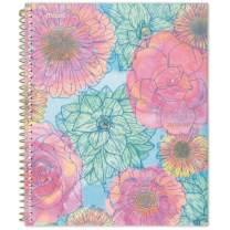 """Five Star 2019-2020 Academic Year Weekly & Monthly Planner, Large, 8-1/2"""" x 11"""", In Bloom, Blue Floral (1212B-905A)"""