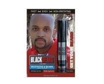 Blackbeard for Men Formula X - Instant Brush-on Beard & Mustache Color - 3-pack (Brown/black)