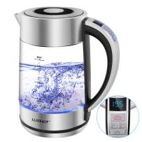 LLivekit 1.7L Glass Electric Kettle, 1500W Tea Kettle with Temperature Control & Keep-Warm Function, Hot Water Kettle with Auto Shut-Off & Boil-Dry Protection, Fast Boiling Water Boiler with Blue Light