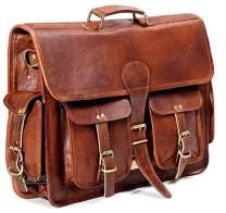 Montexoo Handmadecraft Leather Unisex Real Leather Messenger Bag for Laptop Briefcase Satchel