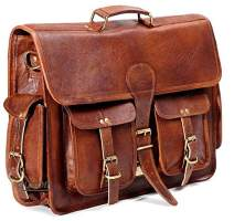 Montexoo Handmadecraft Leather Unisex Real Leather Messenger Bag for Laptop Briefcase Satchel
