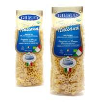 Giusto Sapore Italian Pasta - 454g - 6 Pack - Premium Organic Bronze Drawn Durum Wheat Semolina Gourmet Pasta Brand - Imported from Italy and Family Owned (Cazzetti)
