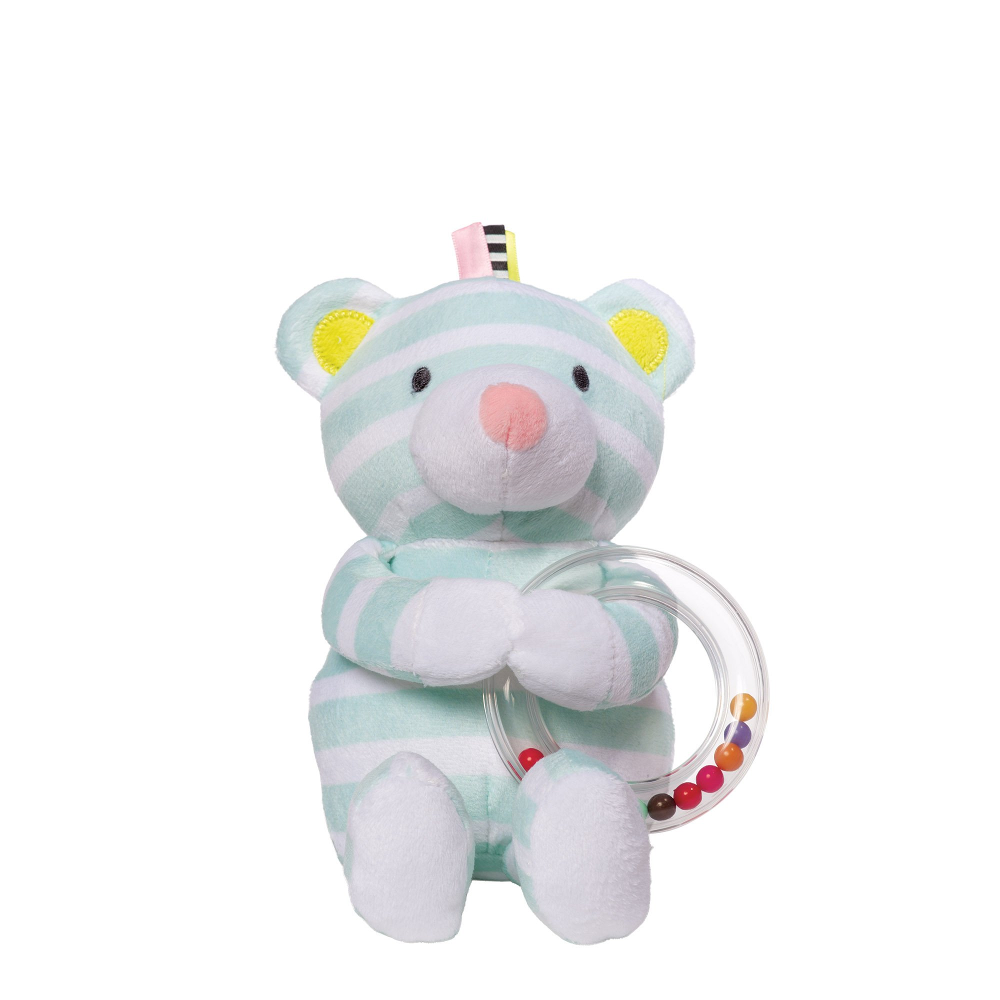 Manhattan Toy Playtime Plush Toy, Bear with Ring Rattle